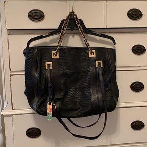 Emma & Sophia Black Genuine Leather Purse